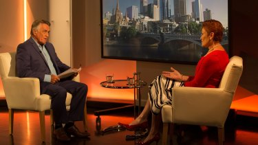 Barrie Cassidy interviews Pauline Hanson on the ABC's <I>Insiders.</I>.