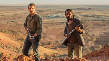 Outback western ... Alex Russell and Aaron Pedersen in <i>Goldstone</i>.