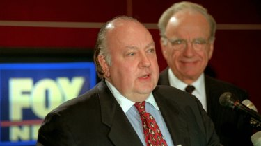 Roger Ailes, pictured left, with Rupert Murdoch.