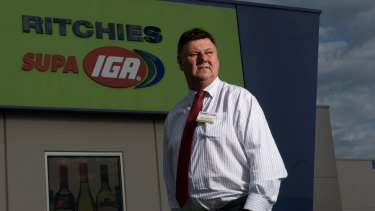 Ritchies Stores chairman Fred Harrison is looking forward to his best result in four years.