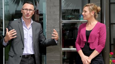 Greens leader Richard Di Natale and his deputy, Larissa Waters.