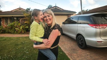 Refused entry: Melissa Smith and her daughter Lily.