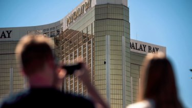 Stephen Paddock smashed windows in his suite at the Mandalay Bay Resort and Casino.