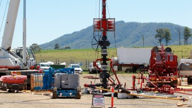 Toxic discovery: a pilot coal seam gas well in Gloucester.