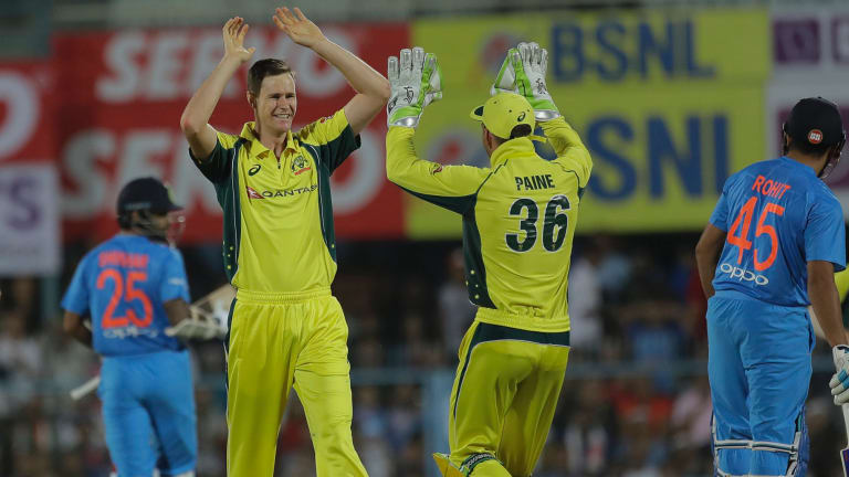 Jason Behrendorff was named man of the match in just his second game for Australia.