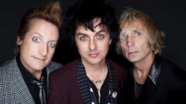 Veteran punk trio Tre Cool, Billie Joe Armstrong and Mike Dirnt.