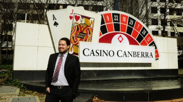 Aquis managing director, Justin Fung at the Canberra casino, which is allowed poker machines for the first time under a bill abled this week.