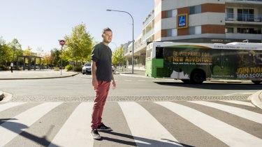 Gungahlin resident Kris Brassington says more people should use public transport.