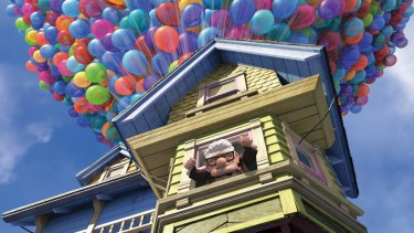 Up, up and away in Pixar's <i>Up</i>.