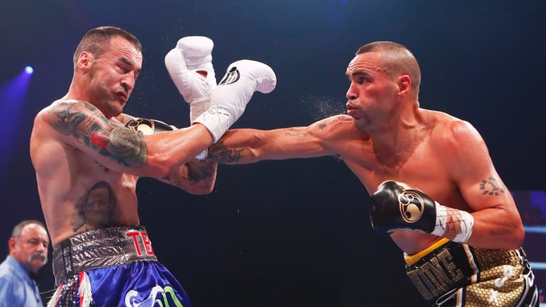 Mundine stopped the fight at the end of the second round.