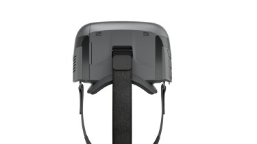 A top view of the straps and padding which hold the headset in place.