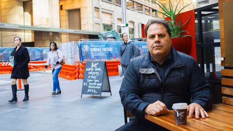 Vivo Cafe owner Con Vithoulkas says revenue has fallen by 30 per cent.