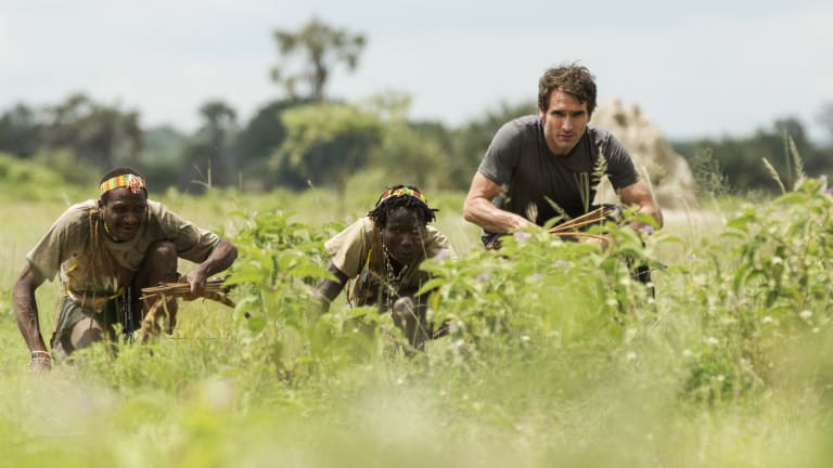 Sampson hunting with the Hazda tribe in Tanzania.