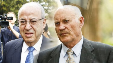 Corrupt former politicians Eddie Obeid and Ian Macdonald, seen in a composite image, have been jailed for unrelated offences.