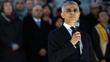London mayor Sadiq Khan.
