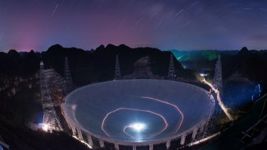 Construction on the 500-metre diameter radio telescope, which began in 2011 is now complete.