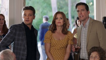 Jeremy Renner, Isla Fisher and Ed Helms in Tag.