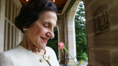 Dame Marie Bashir said she was 'privileged' to support marriage equality.