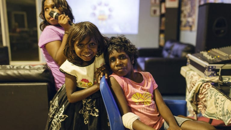 Indigenous children take part in Save the Children's program in Kununurra.