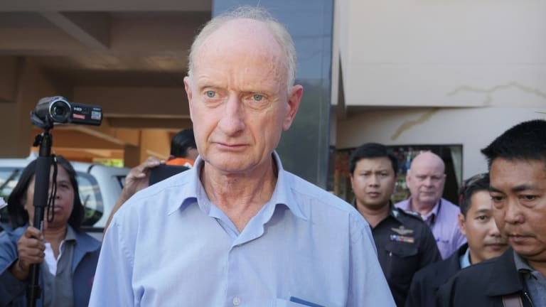 Peter Dundas Walbran after his arrest in Ubon Ratchathani, Thailand, on December 9.