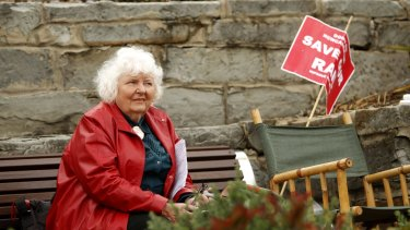 Community campaigner Joan Dawson from Save Our Rail after a December court win that stopped heavy rail being removed.