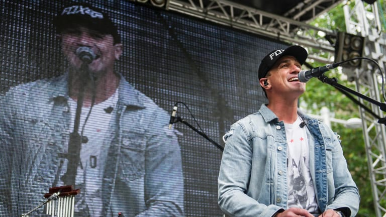 Shannon Noll provided entertainment at the Centenary event.