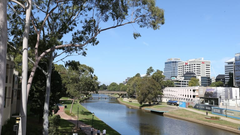 The site of the new Powerhouse Museum in Parramatta.