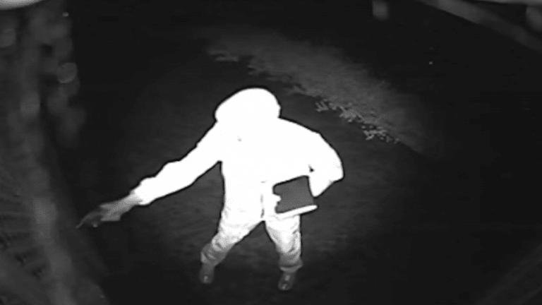 A CCTV camera captured Joe Antoun's killer outside his home.