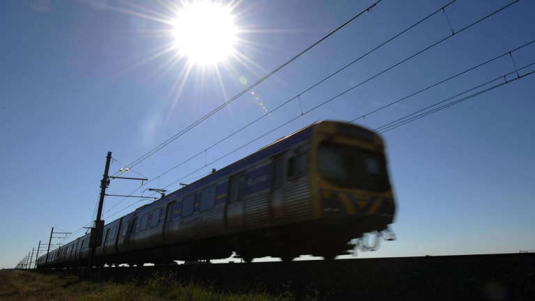 The Geelong V/Line will experience heat delays on Tuesday.