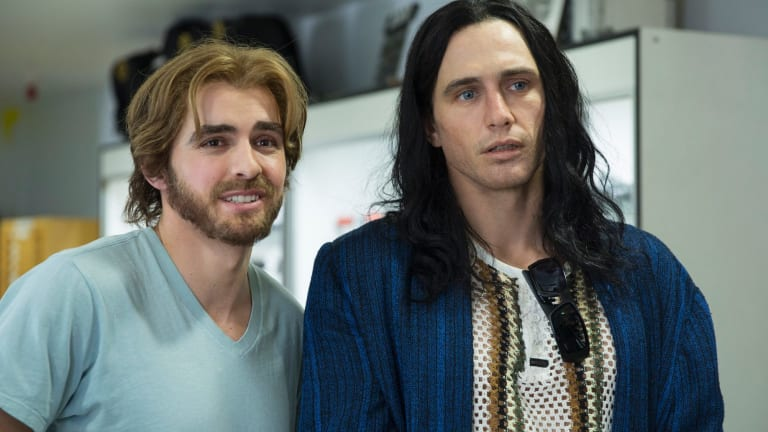 James Franco (right) as Tommy Wiseau in the Disaster Artist.