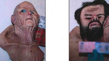 Martin Trenneborg allegedly wore these masks as he drove the woman to a dungeon he had spent years building.
