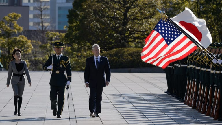 Tomomi Inada (left), Japan's defence minister, and US Secretary of Defence General James Mattis (right) in Tokyo last week.