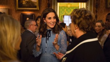 The Duchess of Cambridge attends a reception at Buckingham Palace to celebrate World Mental Health Day.