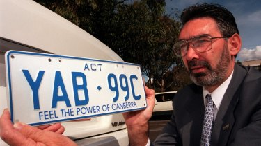 The Feel the Power of Canberra number plates are still available.