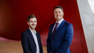 Light rail debate: experts David Bissell and James McIntosh.