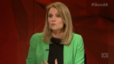 Former Danish Prime Minister Helle Thorning-Schmidt on Q&A on Monday.