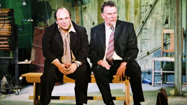 Alan Flower (left) and Russell Kiefel in <i>Ray's Tempest</I> at Belvoir, 2005