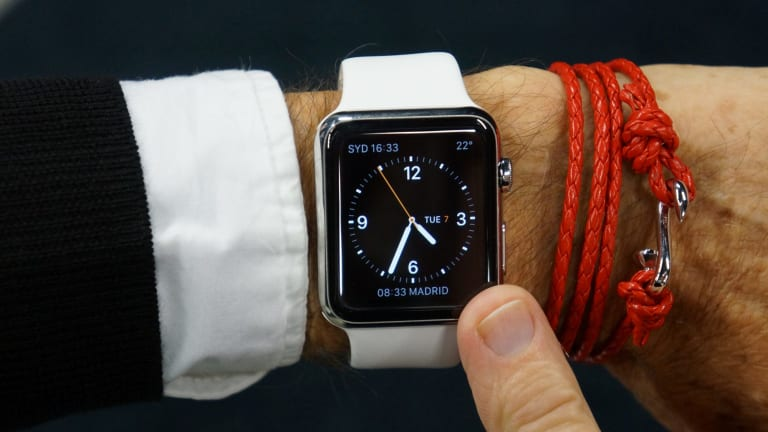 The Apple Watch 'builds the digital world directly into your skin'.