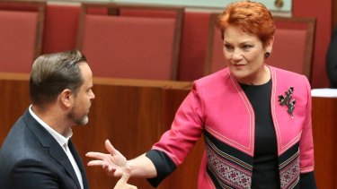 Pauline Hanson's One Nation controls four votes in the Senate, and does not support the media reform package as currently drafted.
