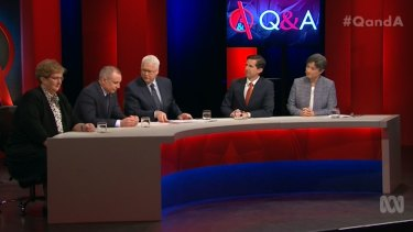 The panel on Monday night also included Amanda Vanstone and Penny Wong.