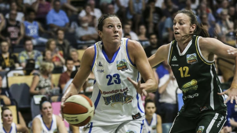 Kelsey Griffin (left) will become an Australian citizen this Sunday and be eligible for Opals selection.
