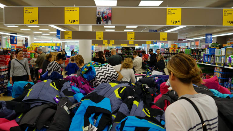 At this Aldi store in suburban Melbourne on Saturday, scenes were chaotic but not unreasonably violent.
