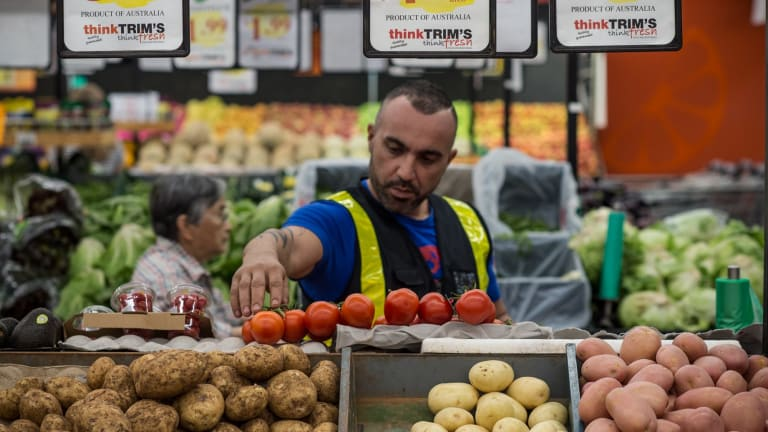 High prices can be positive, says Alex Eletri from Trims Fresh Fruit and Veg at Leichardt Marketplace.