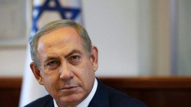 Lashed out: Israeli Prime Minister Benjamin Netanyahu.