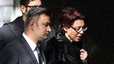 Eman Sharobeem arrives at the ICAC with her legal team last Monday.