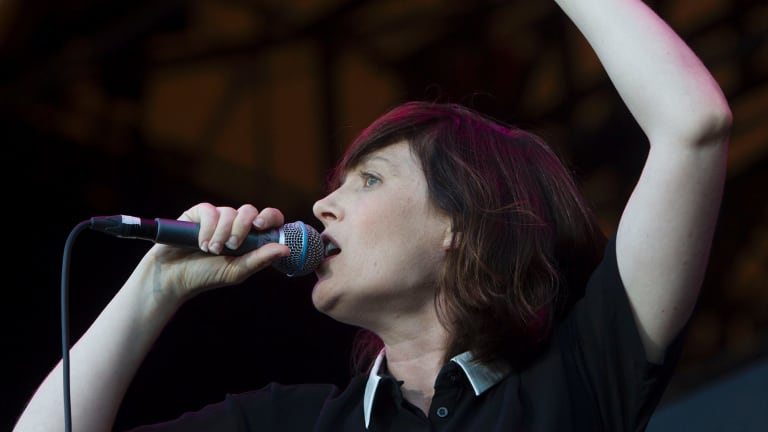 """Sarah Blasko performs at Beat the Drum music festival in The Domain in 2015. Not being able to read music has """"definitely held her back"""", she says."""