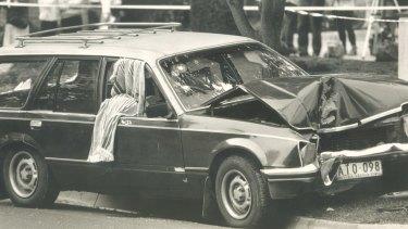 The scene in Webb Street, Narre Warren where Graeme Jensen was shot by police