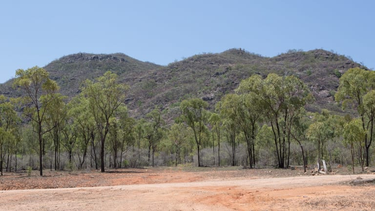 The remote bushland of Ravenswood, North Queensland, near where Mick Isles' car was found.