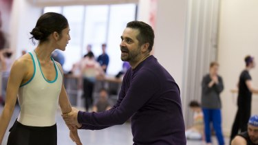 Stanton Welch rehearses with dancer Robyn Hendricks for his work La Bayadere, for the Australian Ballet  in 2014.