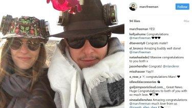 Marc Freeman and Nicole Landerer - engaged. Photo: @marcfreeman on Instagram